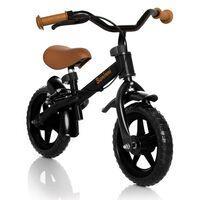 Baninni Loopfiets Wheely zwart en bruin BNFK012-BKBR