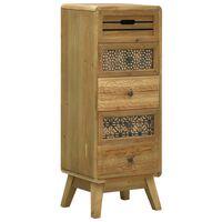 vidaXL Dressoir met 5 lades 37x30x97,5 cm hout bruin