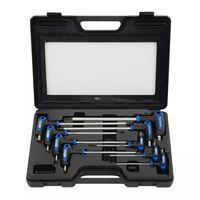 KS Tools T-handvat momentschroevendraaier TX schroeven 9 stuks T10-T50