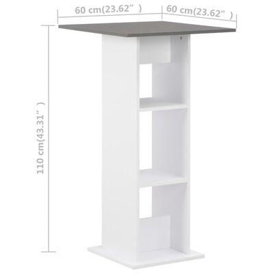 vidaXL Bartafel 60x60x110 cm wit en antracietgrijs