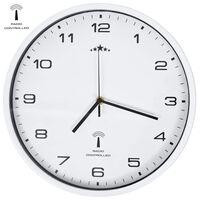 vidaXL Wandklok met quartz uurwerk radiogestuurd 31 cm wit