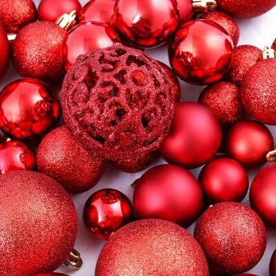 vidaXL Kerstballenset 6 cm rood 100-delig