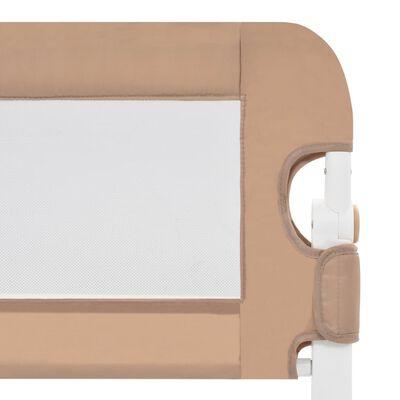 vidaXL Bedhekje peuter 180x42 cm polyester taupe