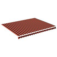vidaXL Vervangingsdoek voor luifel 4,5x3,5 m oranje en bruin