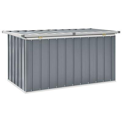 vidaXL Tuinbox 129x67x65 cm grijs