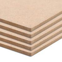 vidaXL MDF platen vierkant 60x60 cm 12 mm 4 st