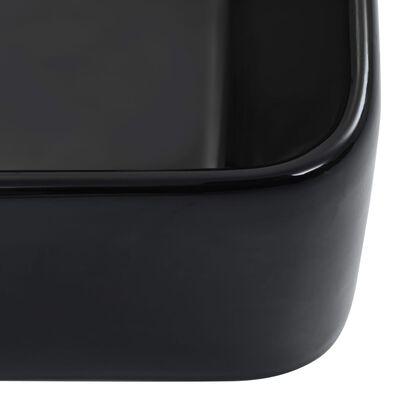 vidaXL Wastafel 40x30x13 cm keramiek zwart