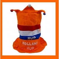 Hup Holland oranje hoed met muziek