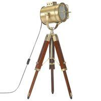 vidaXL Vloerlamp driepoot 69 cm massief mangohout