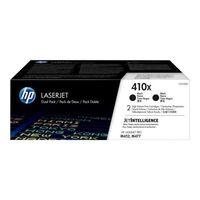 HP 410X (CF410XD) Toner Zwart Voordeelbundel 2-pack Hoge capaciteit