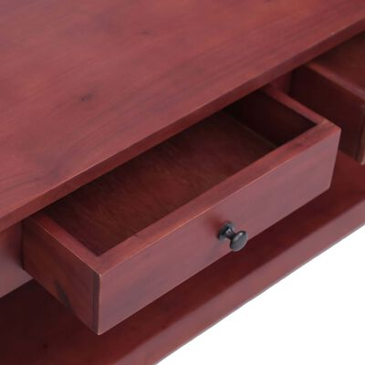 vidaXL Salontafel 100x55x46 cm massief mahoniehout bruin