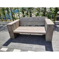 KSM-steigerhout - Loungebank van Grey Wash steigerhout 120cm