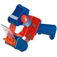 1x stuks Tesa verpakkingstaperollers roldispensers blauw/rood -