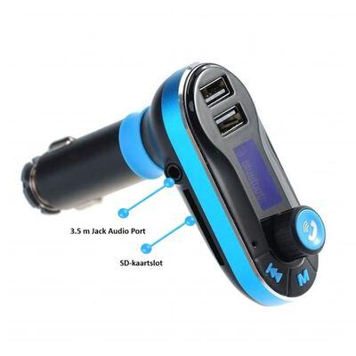 Parya Official - Draadloze Bluetooth Carkit - Blauw,