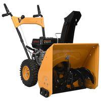 vidaXL Sneeuwblazer 6,5 pk geel en zwart