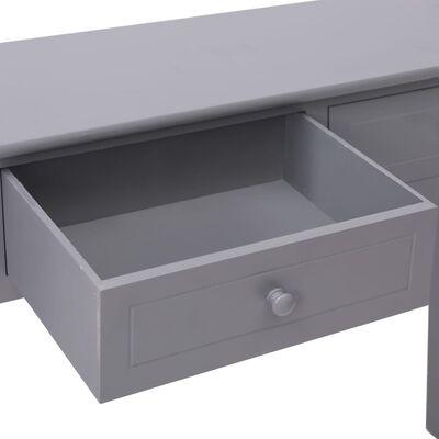 vidaXL Wandtafel 90x30x77 cm hout grijs