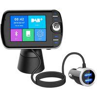 Draadloze Bluetooth LCD FM-zender met MP3 USB Handsfree voor in de aut
