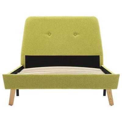vidaXL Bedframe stof groen 90x200 cm, Green