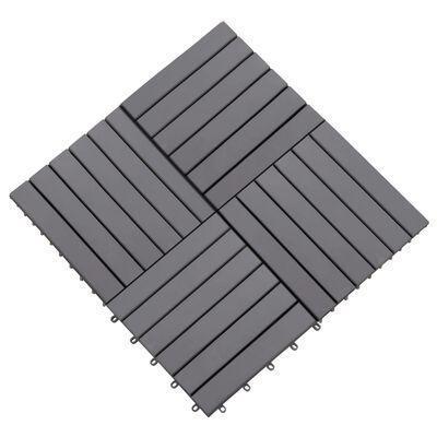 vidaXL Terrastegels 10 st 30x30 cm massief acaciahout greywash