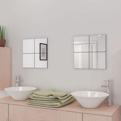 vidaXL Spiegeltegels frameloos 16 st 20,5 cm glas