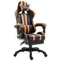 vidaXL Gamestoel met voetensteun kunstleer oranje