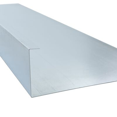 vidaXL Slakkenhek 444x25 cm gegalvaniseerd staal
