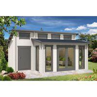 Carlsson tuinhuis Lausitz-40 ISO met uitbreiding