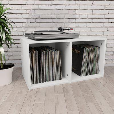 vidaXL Opbergbox voor LP's 71x34x36 cm spaanplaat wit