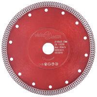 vidaXL Diamantzaagblad met gaten 180 mm staal
