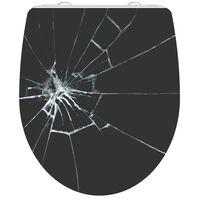 SCHÜTTE Toiletbril met soft-close BROKEN GLASS duroplast hoogglans