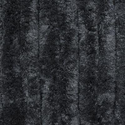 vidaXL Vliegengordijn 56x185 cm chenille antraciet