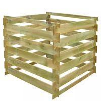 vidaXL Compostbak gelat vierkant 0,54 m³ hout