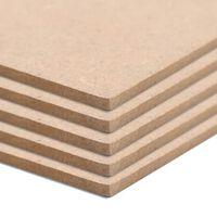 vidaXL MDF platen rechthoekig 120x60 cm 2,5 mm 5 st