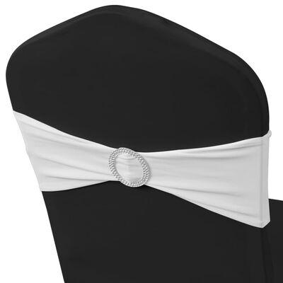 Decoratief stoellint met een diamant 25 stuks (wit)