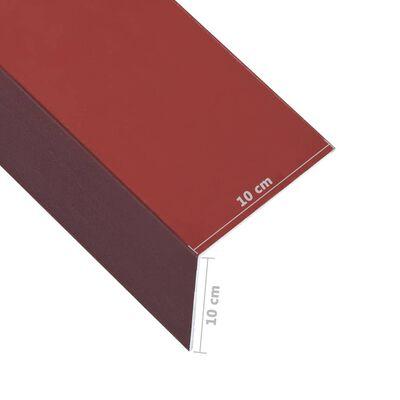 vidaXL Hoekplaten 5 st L-vormig 90° 170 cm 100x100 mm aluminium rood, Red