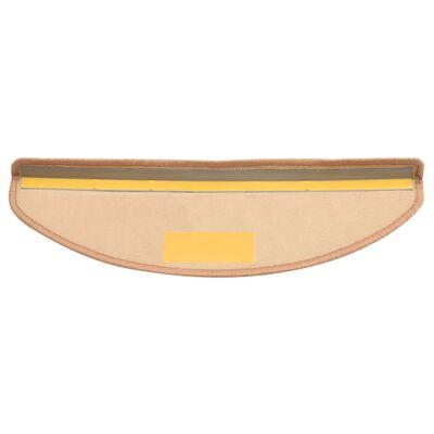 vidaXL Trapmatten zelfklevend 15 st 65x21x4 cm beige