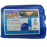 Summer Fun Zomerzwembadhoes solar rond 350 cm PE blauw