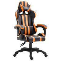 vidaXL Gamestoel kunstleer oranje