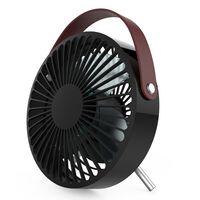 Perel Ventilator USB draagbaar zwart en bruin