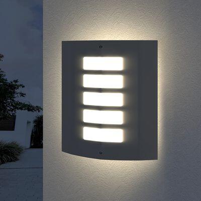 vidaXL Buitenlamp RVS Falerna 2 st