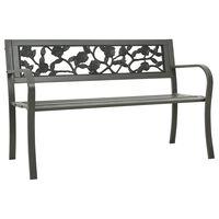 vidaXL Tuinbank 125 cm staal grijs