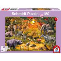 Schmidt Dieren In Afrika, 150 Stukjes - Puzzel - 7+