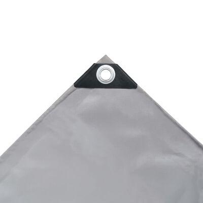 vidaXL Dekzeil 650 g/m² 5x6 m grijs