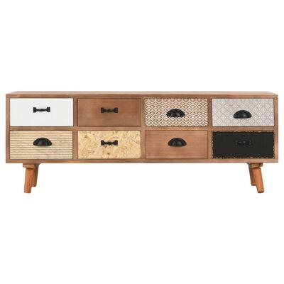 vidaXL Tv-meubel met 8 lades 120x30x40 cm massief grenenhout
