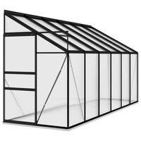 vidaXL Broeikas 7,77 m² aluminium antracietkleurig