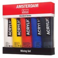 Amsterdam acrylverf tube van 120 ml, doos met 5 tubes in niet-prima...
