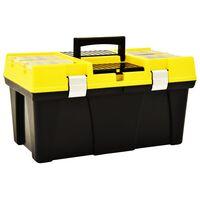vidaXL Gereedschapskist 595x337x316 mm kunststof geel