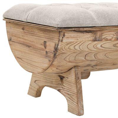 vidaXL Opslagbank 103x51x44 cm massief hout en stof