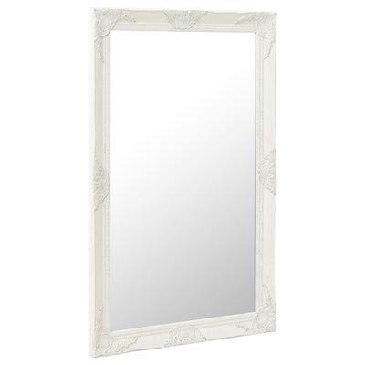 vidaXL Wandspiegel barok stijl 60x100 cm wit