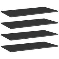 vidaXL Wandschappen 4 st 80x40x1,5 cm spaanplaat hoogglans zwart